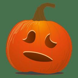 Speechless pumpkin emoticon