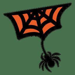 Aranha escalando web 2