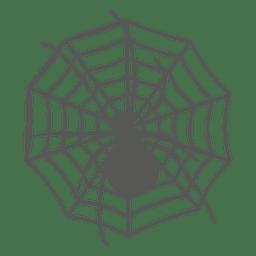 Araña en la silueta de la web