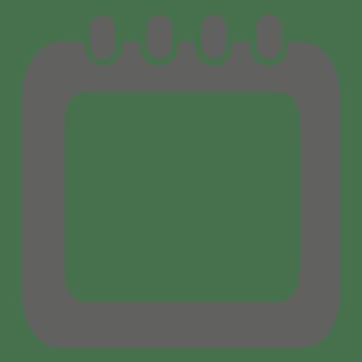 Icono de caja de calendario espiral Transparent PNG