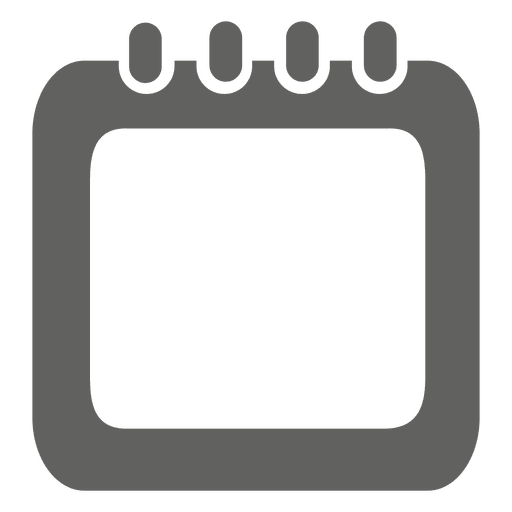 Spiral calendar box icon Transparent PNG