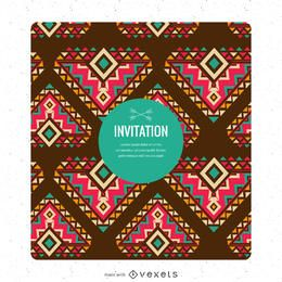 Invitation card ethnic style creator