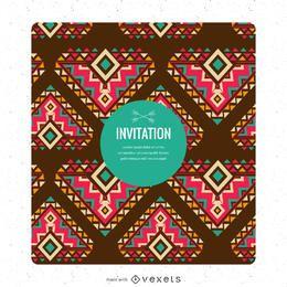 Tarjeta de invitación creador de estilo étnico