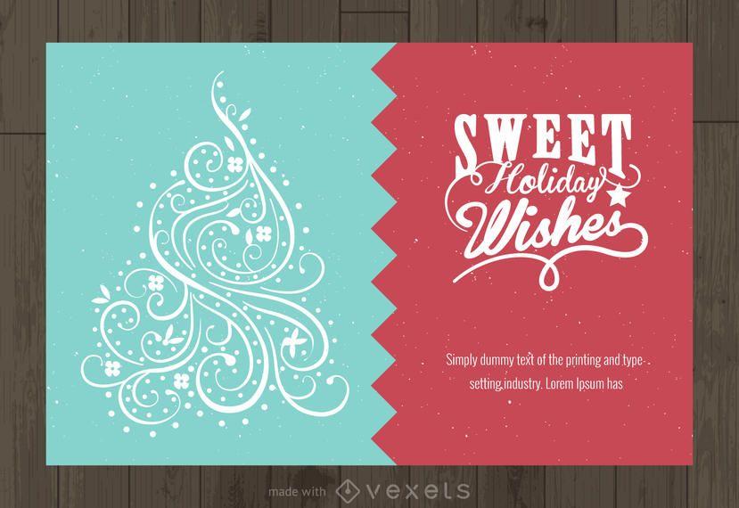 Swirls Christmas wishes creator