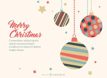 fabricante de la tarjeta de felicitación linda de la Navidad