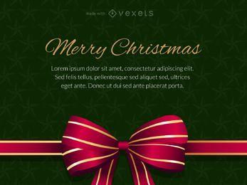 Cartão de presente de Natal feliz editável
