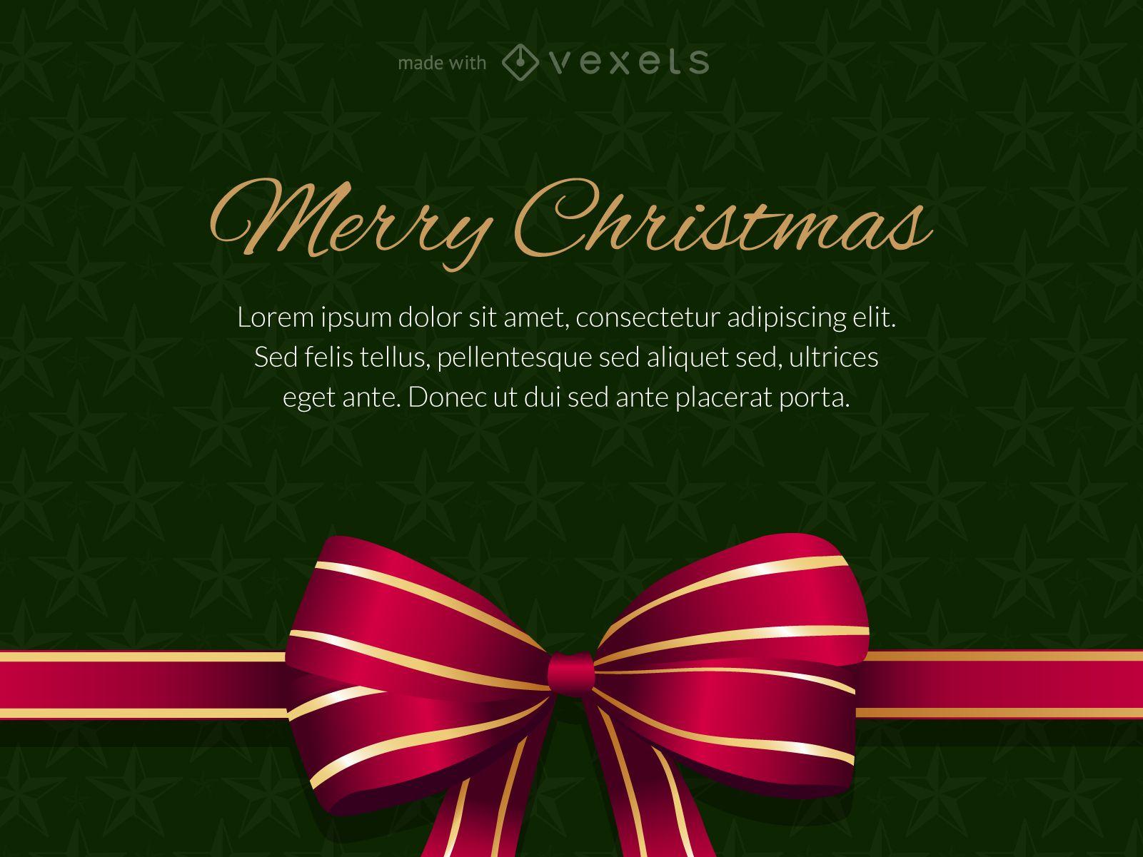 Frohe Weihnachten Geschenkkarte editierbar