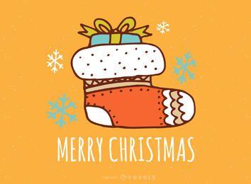 Dulce fabricante de dibujo de tarjeta de Navidad
