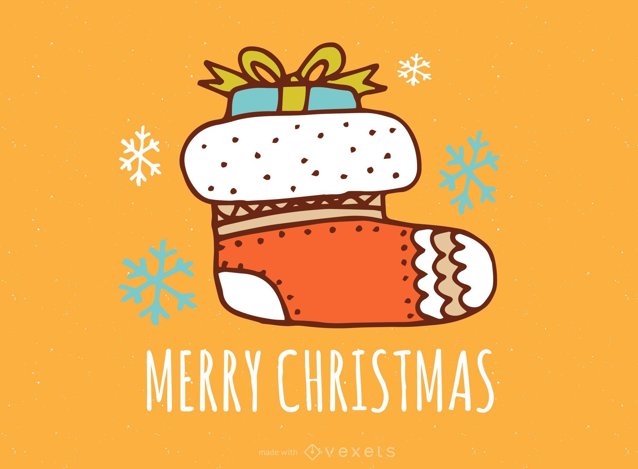 Sweet Christmas card drawing maker