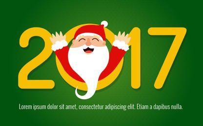 2017 feliz fabricante de tarjetas de Santa