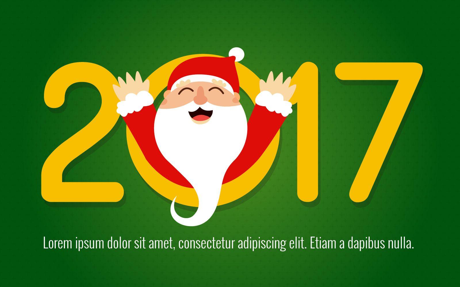 2017 glücklicher Weihnachtsmannkartenhersteller