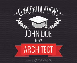 Fabricante de tarjetas de felicitaciones de graduación