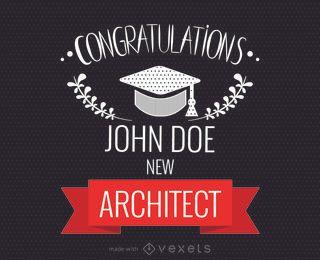 felicitações da graduação fabricante da placa