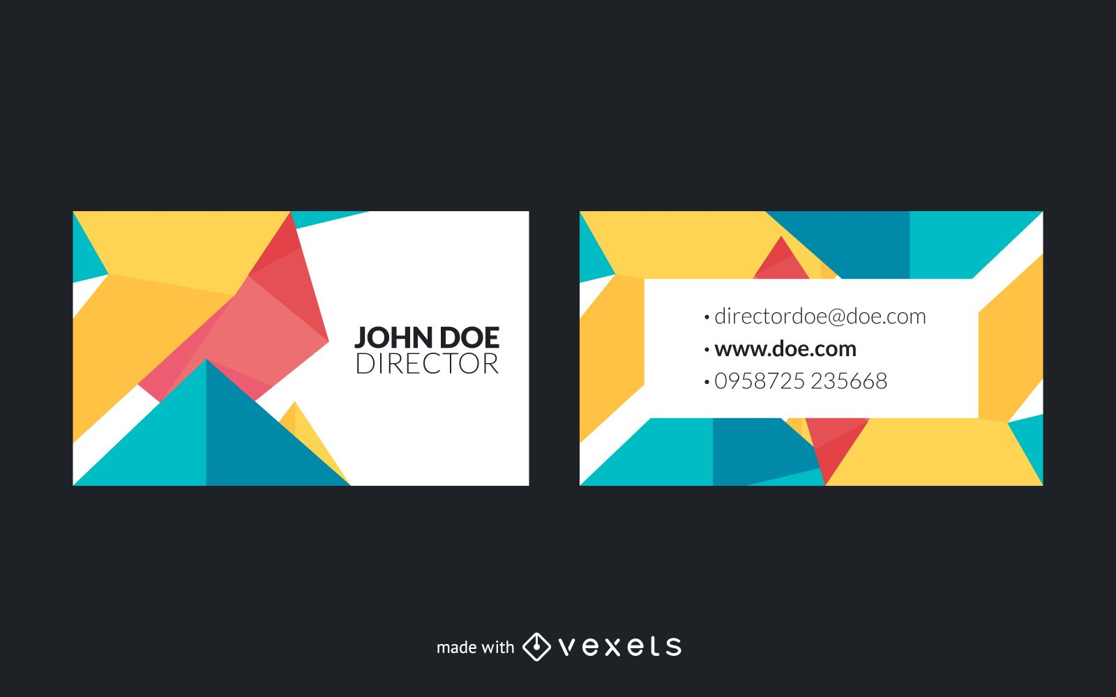 Polygonal business card maker - Editable design