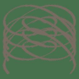 Spiral Kalligraphische Dekoration