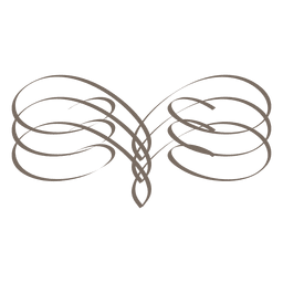 Ornamento de caligrafía de borde espiral
