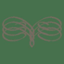 Spiral edge calligraphy ornament