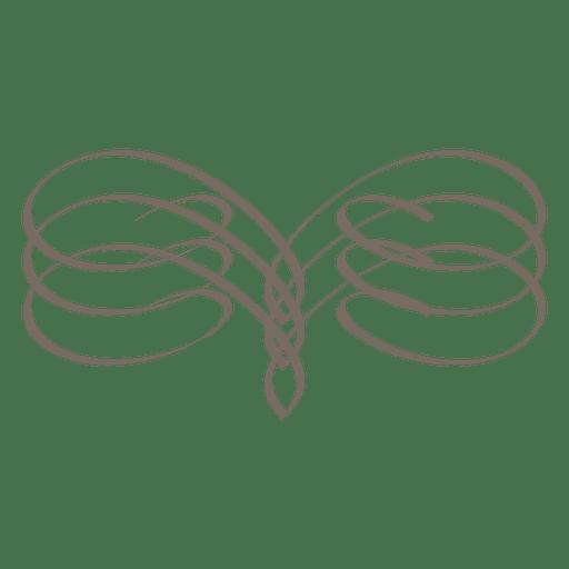 Ornamento de caligrafía de borde espiral Transparent PNG