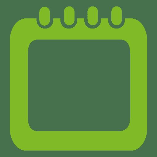 Spiral green calendar box Transparent PNG