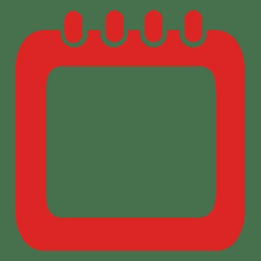 Spiral red calendar box Transparent PNG