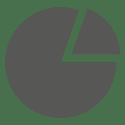 Ícone de gráfico de pizza dividida Transparent PNG