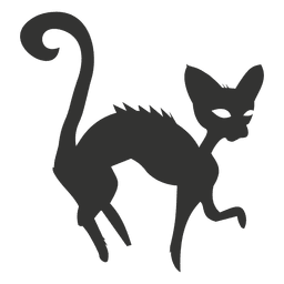 Gato assustador do dia das bruxas 6