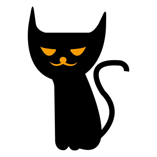 Gato assustador do dia das bruxas 7