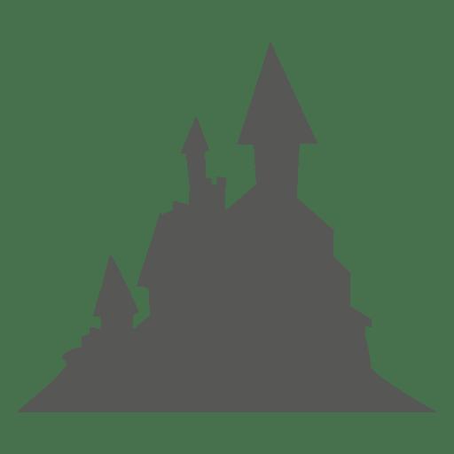 Castillo embrujado espeluznante en la montaña