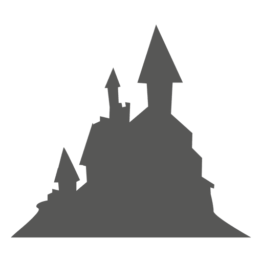 Spooky haunted castle on mountain