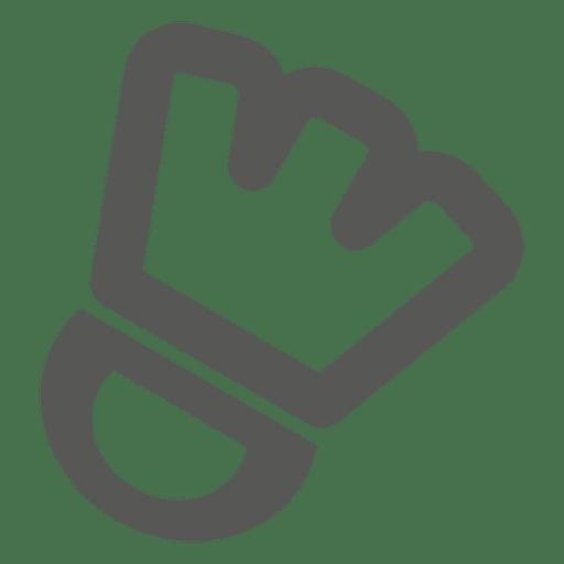 Icono de guante de mano de deportes
