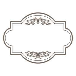 Square round floral frame