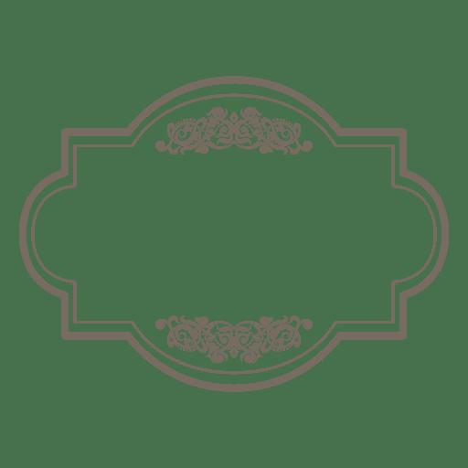 Marco floral redondo cuadrado