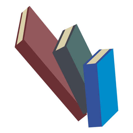 Stack of 3 books Transparent PNG