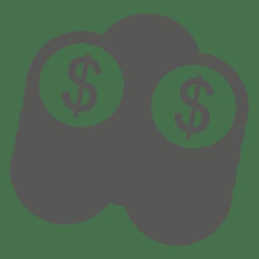 Pilha, de, dólar, moedas, ícone Transparent PNG