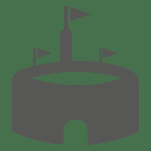 Flat stadium icon Transparent PNG