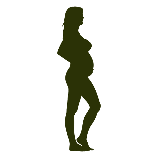 Standing pregnant lady silhouette Transparent PNG