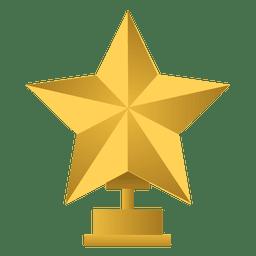 Trofeo de campeón estrella