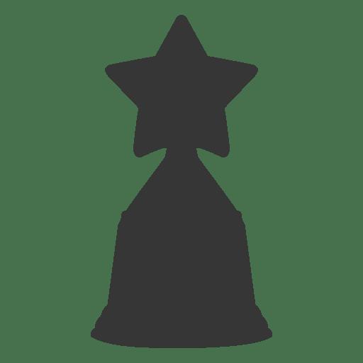 Star trophy silhouette
