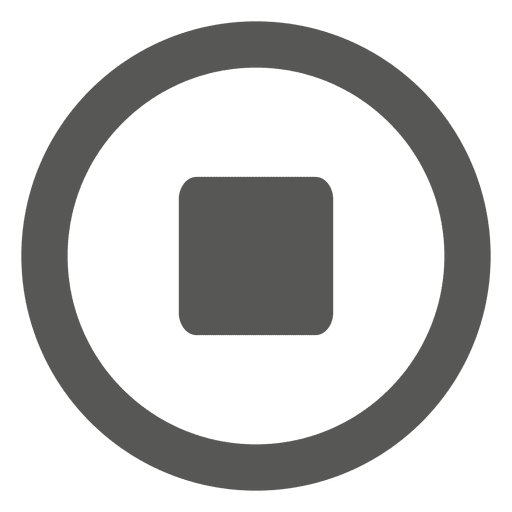 Stop flat media icon - Transparent PNG & SVG vector