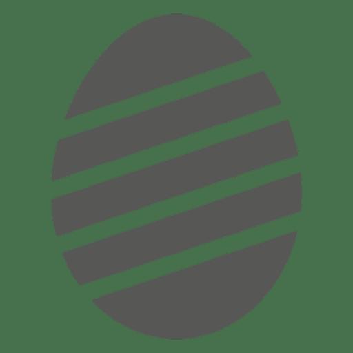 Icono de huevo de Pascua rayado