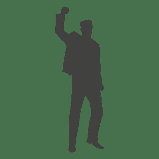 Success celebration silhouette