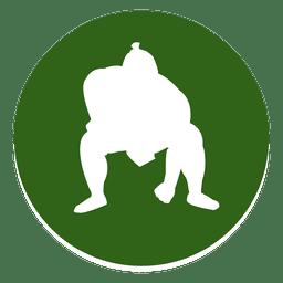 Icono de círculo de sumo