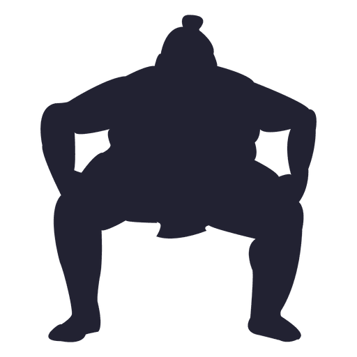 Sumo fighter silhouette Transparent PNG
