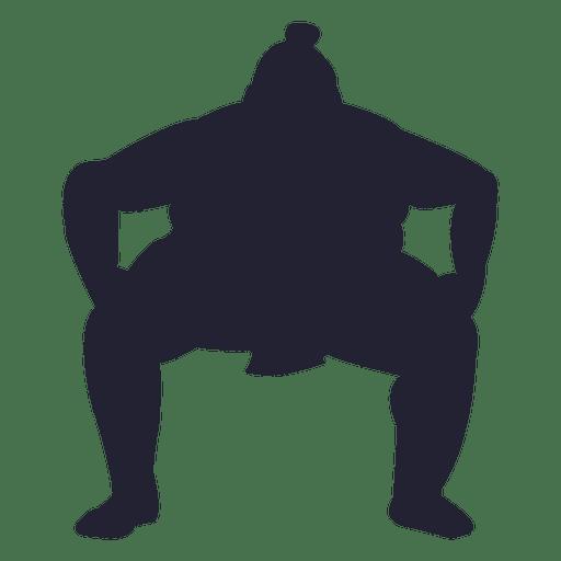 Sumo fighter silhouette