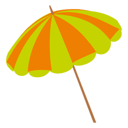 Icono de paraguas de color