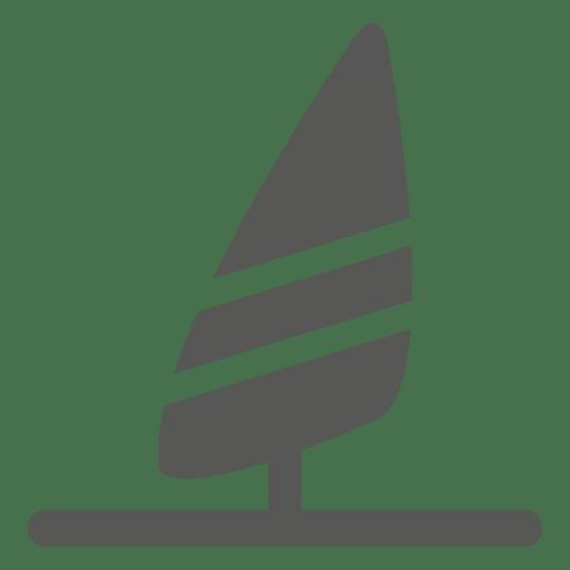 Sunfish surfing icon