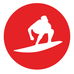 Surfing circle icon
