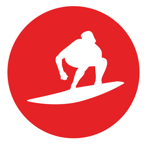 Surfing circle icon Transparent PNG