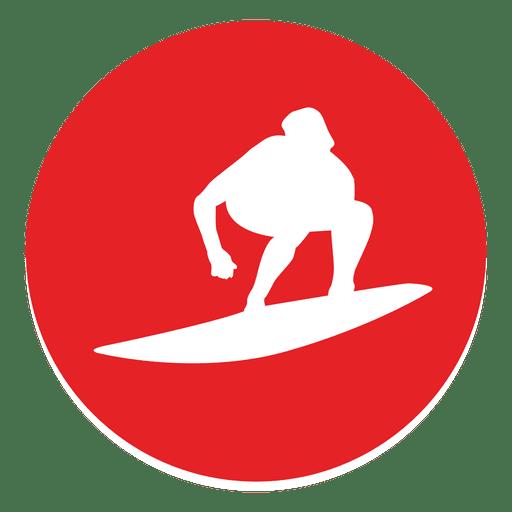 Surfing circle icon