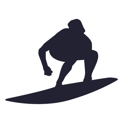 Surfing silhouette Transparent PNG